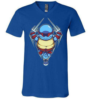 Ninja Squirtle-Gaming V-Necks-TrulyEpic|Threadiverse
