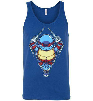 Ninja Squirtle-Gaming Tank Tops-TrulyEpic|Threadiverse