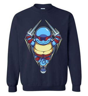 Ninja Squirtle-Gaming Sweatshirts-TrulyEpic|Threadiverse