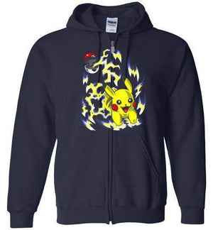 Pika Pokeball-Gaming Hoodies-Punksthetic Designs|Threadiverse