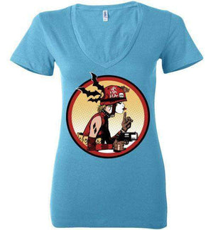 Prank Girl-Comics Women's V-Necks-Fishmas|Threadiverse