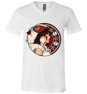 Princess OF The Forest-Anime V-Necks-Whimsy Design And Illustration|Threadiverse