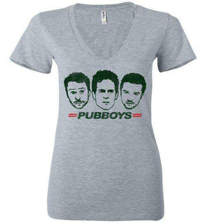 Pub Boys-Pop Culture Women's V-Necks-Punksthetic Designs|Threadiverse