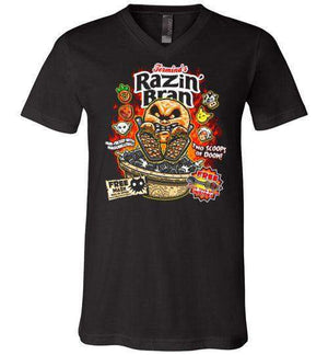 Razin Bran-Gaming V-Necks-Punksthetic Designs|Threadiverse