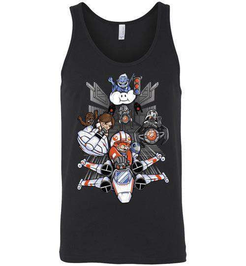 Red Shell Standing By-Pop Culture Tank Tops-TrulyEpic|Threadiverse