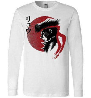 Red Sun Fighter-Gaming Long Sleeves-Ddjvigo|Threadiverse