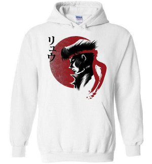Red Sun Fighter-Gaming Hoodies-Ddjvigo|Threadiverse
