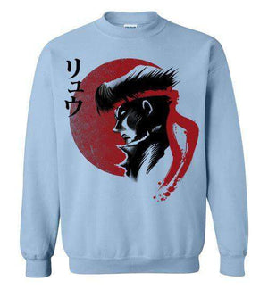 Red Sun Fighter-Gaming Sweatshirts-Ddjvigo|Threadiverse