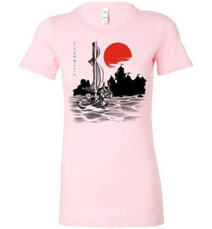 Red Sun Hero-Gaming Women's Shirts-Ddjvigo|Threadiverse