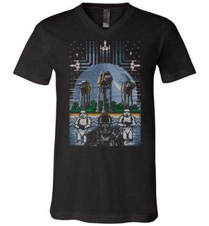 Revenge Of The Empire-Pop Culture V-Necks-Stationjack|Threadiverse