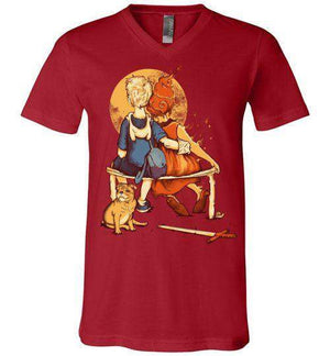 Rockwell Time-Pop Culture V-Necks-Creative Outpouring|Threadiverse