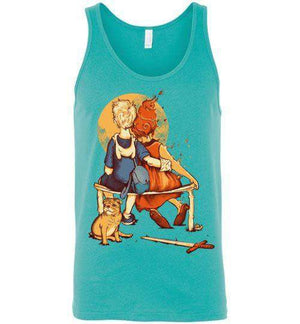 Rockwell Time-Pop Culture Tank Tops-Creative Outpouring|Threadiverse
