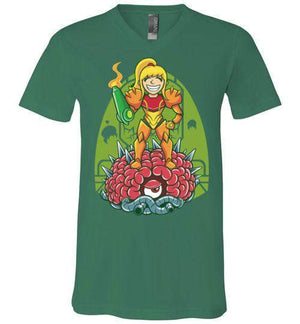 Samus-Gaming V-Necks-TrulyEpic|Threadiverse