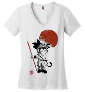 Searching for the Dragon-Anime Women's Perfect Weight V-Necks-Ddjvigo|Threadiverse