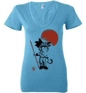 Searching for the Dragon-Anime Women's V-Necks-Ddjvigo|Threadiverse