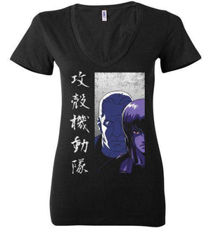 Section 9-Anime Women's V-Necks-Ddjvigo|Threadiverse