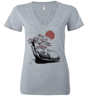 Spirit In The Forest-Anime Women's V-Necks-Ddjvigo|Threadiverse