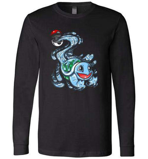 Squirtle Pokeball-Gaming Long Sleeves-Punksthetic Designs|Threadiverse