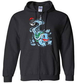Squirtle Pokeball-Gaming Hoodies-Punksthetic Designs|Threadiverse