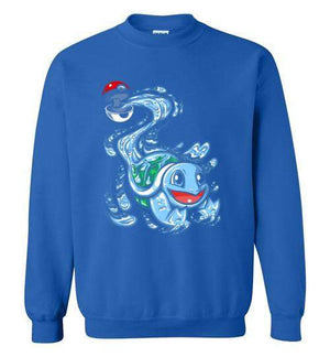 Squirtle Pokeball-Gaming Sweatshirts-Punksthetic Designs|Threadiverse