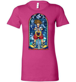 Stained Glass Of Memories-Gaming Women's Shirts-Whimsy Design And Illustration|Threadiverse