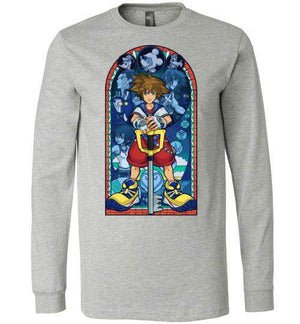 Stained Glass Of Memories-Gaming Long Sleeves-Whimsy Design And Illustration|Threadiverse