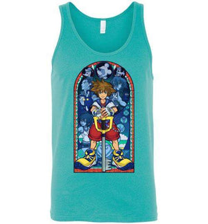 Stained Glass Of Memories-Gaming Tank Tops-Whimsy Design And Illustration|Threadiverse