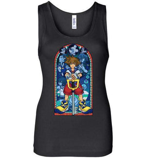 Stained Glass Of Memories-Gaming Women's Tank Tops-Whimsy Design And Illustration|Threadiverse