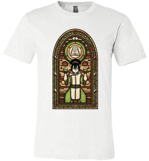 StainedGlass Toph-Animation Shirts-Fishmas|Threadiverse