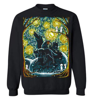 Starry Forest-Anime Sweatshirts-Ddjvigo|Threadiverse