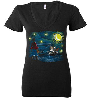 Starry Sea-Anime Women's V-Necks-Ddjvigo|Threadiverse