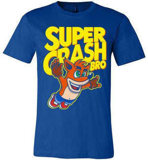 Super Crash Bro-Gaming V-Necks-Punksthetic Designs|Threadiverse