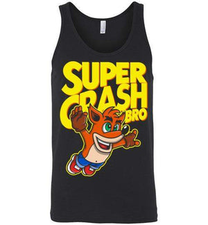 Super Crash Bro-Gaming Tank Tops-Punksthetic Designs|Threadiverse