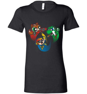 Super Puff Bros (F,C.F,Y)-Gaming Women's Shirts-Punksthetic Designs|Threadiverse