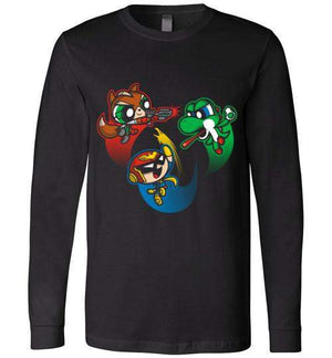 Super Puff Bros (F,C.F,Y)-Gaming Long Sleeves-Punksthetic Designs|Threadiverse