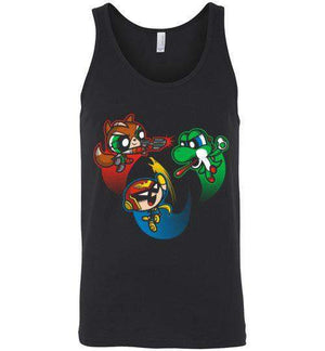 Super Puff Bros (F,C.F,Y)-Gaming Tank Tops-Punksthetic Designs|Threadiverse