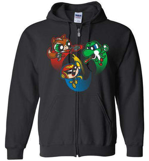 Super Puff Bros (F,C.F,Y)-Gaming Hoodies-Punksthetic Designs|Threadiverse