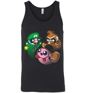 Super Puff Bros (L,D,K)-Gaming Tank Tops-Punksthetic Designs|Threadiverse