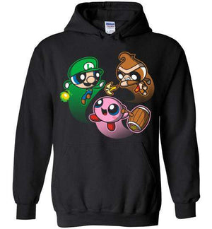 Super Puff Bros (L,D,K)-Gaming Hoodies-Punksthetic Designs|Threadiverse