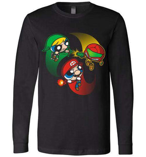 Super Puff Bros (M,L,S)-Gaming Long Sleeves-Punksthetic Designs|Threadiverse