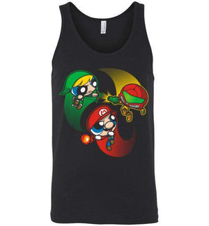 Super Puff Bros (M,L,S)-Gaming Tank Tops-Punksthetic Designs|Threadiverse