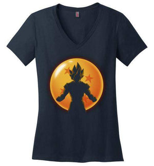 Super Saiyan Hero-Anime Women's Perfect Weight V-Necks-Ddjvigo|Threadiverse