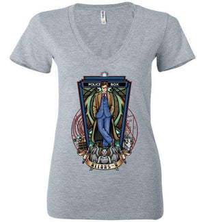 Tenth-Pop Culture Women's V-Necks-TrulyEpic|Threadiverse
