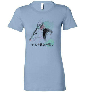 The Dragon And The Girl-Anime Women's Shirts-Donnie Illustrateur|Threadiverse