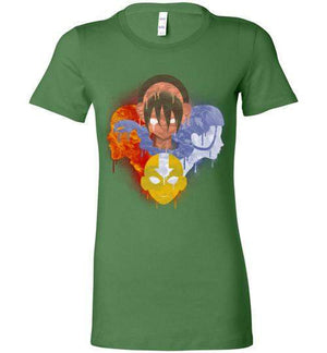 The Four Nations-Animation Women's Shirts-Punksthetic Designs|Threadiverse