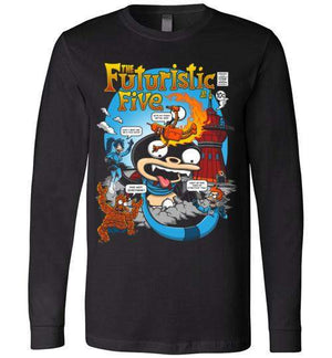 The Futuristic Five-Animation Long Sleeves-Punksthetic Designs|Threadiverse
