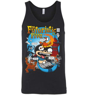 The Futuristic Five-Animation Tank Tops-Punksthetic Designs|Threadiverse