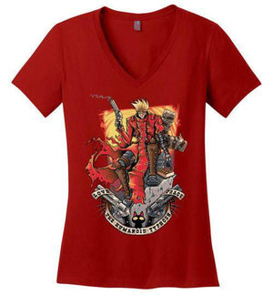 The Humanoid Typhoon-Anime Women's Perfect Weight V-Necks-TrulyEpic|Threadiverse