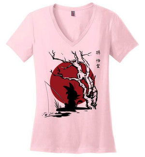 The Little Hero-Anime Women's Perfect Weight V-Necks-Ddjvigo|Threadiverse