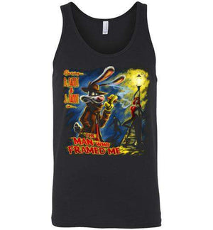 The Man Who Framed Me-Animation Tank Tops-Punksthetic Designs|Threadiverse
